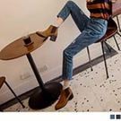 《BA5292》個性抓破自然刷色牛仔男友褲 OrangeBear