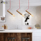 北歐藝術創意個性後現代簡約工業咖啡酒吧酒店餐廳客廳吊燈具XW(一件免運)