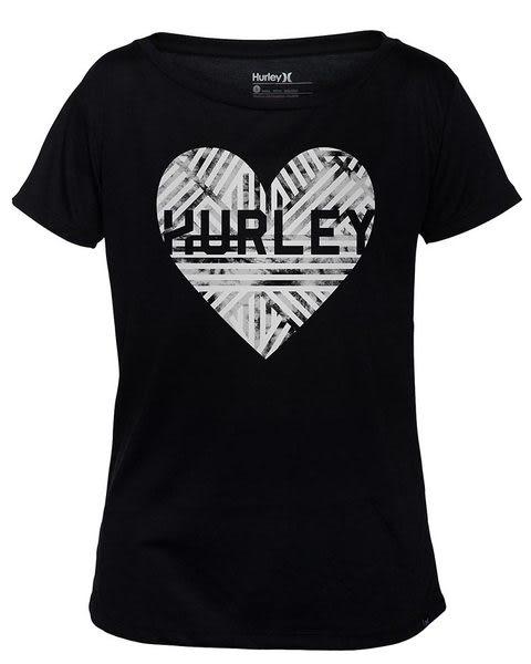 Hurley X Nike Dri-FIT 科技LOVE ME WEAVE DRI-FIT TEE T恤-DRI-FIT - 女(黑)