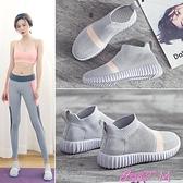 瑜伽鞋運動鞋女健身房跑步機跑步鞋軟底室內防滑跳繩家用瑜伽專用襪子鞋 JUST M