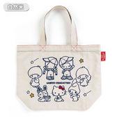 Sanrio SANRIO*BOOFOOWOO刺繡帆布手提袋(70年代-自然米)★funbox★_365335