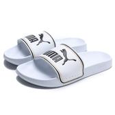 PUMA 拖鞋 LEADCAT FTR 白 黑黃框線 運動拖鞋 男女 (布魯克林) 37227602