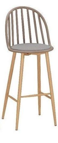 8號店鋪 森寶藝品傢俱 品味生活 c-01 餐廳 吧檯椅系列 1043-3伊蒂絲造型吧椅(棕)(五金腳)(8328c)(高)