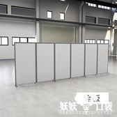 辦公室隔斷墻隔房間移動屏風折疊推拉卡座活動鋁合金工廠隔斷定制