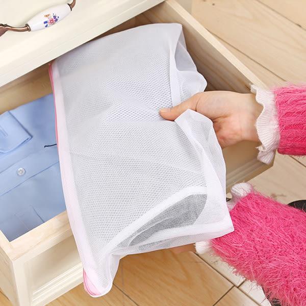 【BlueCat】加厚長條白色網狀透氣可捲式洗褲袋 洗衣袋