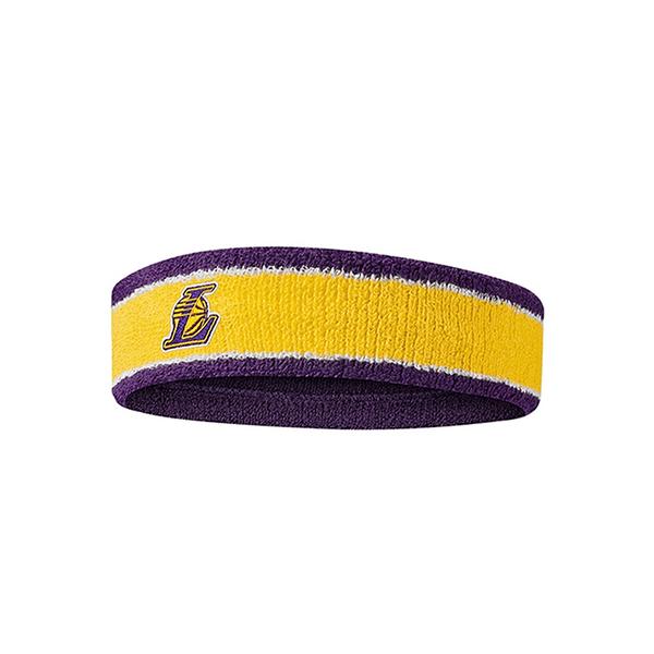 NIKE NBA 頭帶 湖人 DRI-FIT材質 止汗帶 籃球頭帶 單入裝 N1000535747OS【樂買網】