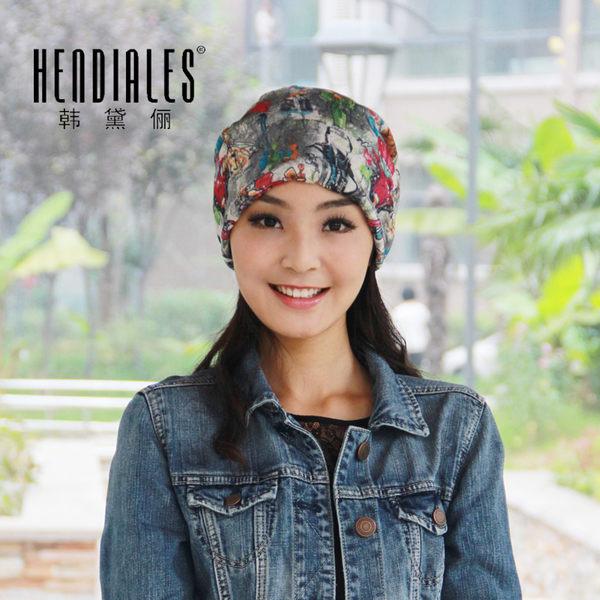 韓黛儷女士薄款透氣網紗頭巾帽子春夏季韓版月子帽產婦帽化療帽潮