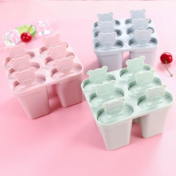【BlueCat】DIY消暑 小熊造型製冰棒製冰盒 雪糕模具
