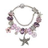 串珠手環-粉色系列海星吊墜水晶飾品女配件73kc35【時尚巴黎】