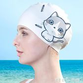 泳帽女長發韓國時尚可愛大號女大童不勒防水矽膠成人游泳帽女 潔思米