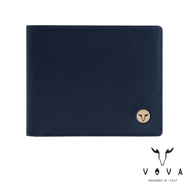 【VOVA】  費城系列9卡中間翻皮夾(深海藍)VA118W004NY