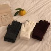 暖手手套ins韓國觸屏手套男女復古加絨加厚保暖手套女冬季新款騎車手套女 春季新品