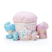 小禮堂 雙子星 造型陶瓷飾品盒 針墊收納盒 陶瓷收納盒 小物盒 (粉藍 45週年) 4550337-78669