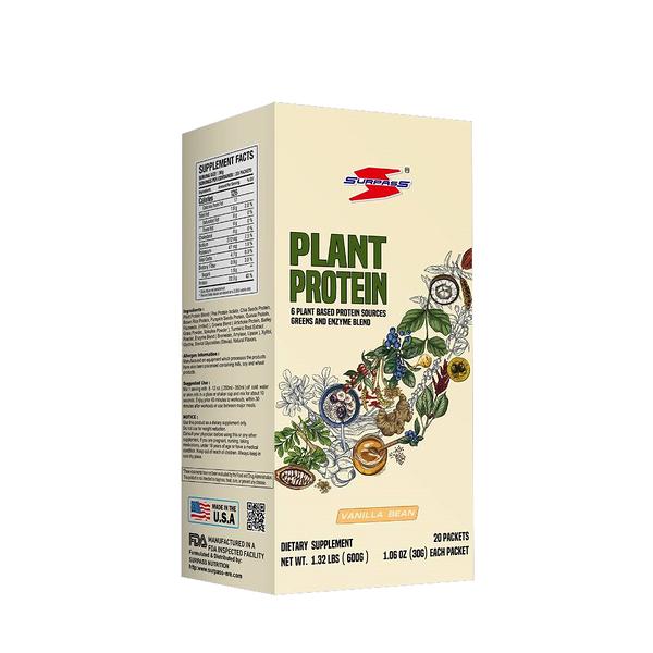 美國SURPASS PLANT PROTEIN 植物蛋白1.32 磅/600公克 (香草口味) 盒裝/20入 健身 素食者福音 公司貨