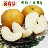 【南紡購物中心】【愛蜜果】卓蘭新興梨6顆禮盒(約4.5斤/盒) 水梨 梨子