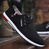 帆布鞋—夏季新款男鞋子男士帆布鞋韓版潮流休閒板鞋男透氣老北京布鞋 春季上新