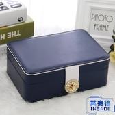 歐式雙層簡約首飾盒飾品盒耳環耳釘收納盒【英賽德3C數碼館】