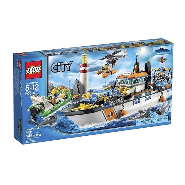 LEGO 樂高 CITY 城市系列 Coast Guard Patrol 海岸巡邏船 60014