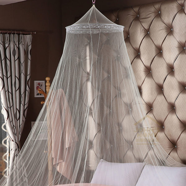約翰家庭百貨》【DA000】圓頂蚊帳 古典浪漫溫馨吊掛公主蚊帳 睡簾 3色可選