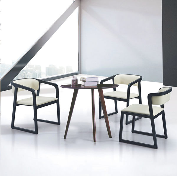 【IS空間美學】喬雅洽談圓桌組一桌三椅
