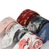 中國風復古風水墨畫學院畢業聚會男領帶時尚花語7CM 棉印花領帶 【好康八九折】