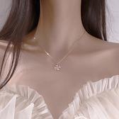 項鏈 幸運四葉草項鏈女鎖骨鏈ins冷淡風純銀潮氣質韓版簡約小眾設計感 歐歐