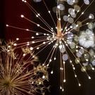 [拉拉百貨]LED太陽能煙花燈 400燈 防水燈串 太陽能 吊燈裝飾 聖誕燈 裝飾 燈條 造型燈