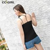 中大尺碼 百搭造型細肩棉背心 - 適XL~4L《 66175i 》CC-GIRL