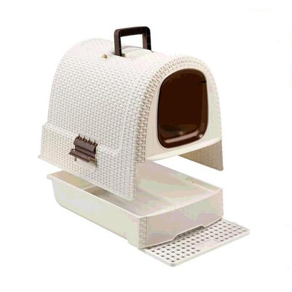 [COSCO代購] C128409 Curver RATTAN LITTER BOX 貓砂盤 51X39X39公分