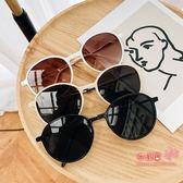 太陽眼鏡 港味網紅2019新款復古圓形墨鏡女韓版時尚潮流文藝街拍太陽鏡 5色