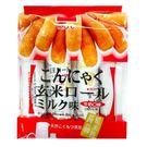 (有效期限至2019/01/31)【北田】蒟蒻糙米捲-牛奶口味16入/包(180g)-奶蛋素