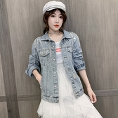 牛仔外套S-XL秋季韓版時尚外穿百搭寬松夾克上衣開衫女潮F139快時尚