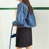 牛仔外套-寬版學院風格造型女丹寧夾克73gz35【巴黎精品】
