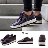 【海外限定】Nike Wmns Air Force 1 07 SE PRM 白 紫 亮皮 AF1 女鞋 運動鞋【PUMP306】 AH6827-600