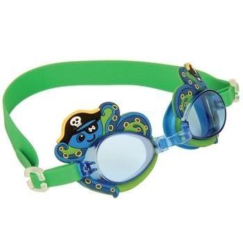 兒童蛙鏡 stephen joseph 海盜綠章魚 玩水 好萊塢明星風靡 色彩鮮艷可愛造型舒適 (2-8歲)