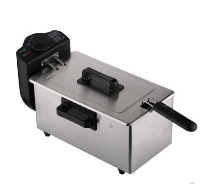 電炸鍋炸薯條機商用不銹鋼恒溫電油炸機單缸 220v LX