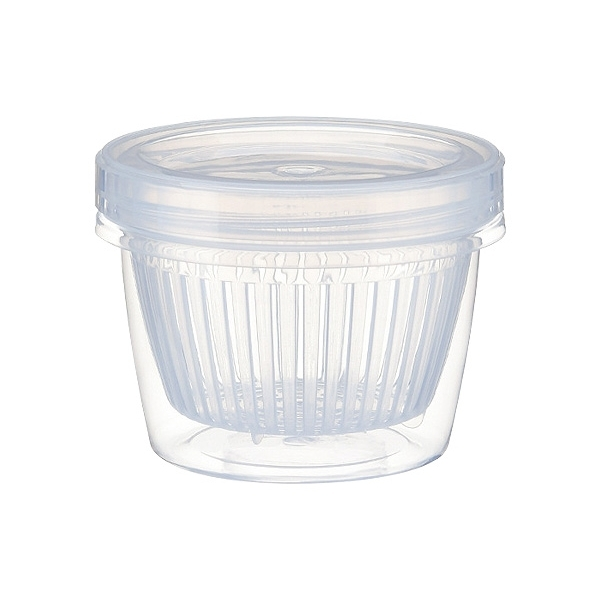 配料瀝水保鮮盒(圓形)1入 顏色隨機出貨【小三美日】