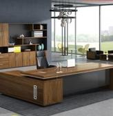 一件8折免運 老板桌簡約現代時尚大班台主管經理總裁桌組合辦公桌單人辦工桌椅xw