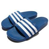 adidas 拖鞋 Adilette CF Ultra 藍白 男鞋【PUMP306】AQ4936
