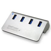 [富廉網] 伽利略 Digifusion U3H04F 銀色 USB3.0 4埠 HUB 鋁合金