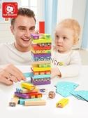 疊疊樂層層疊高推抽積木塔兒童益智玩具4-6歲親子積木桌游抽抽樂