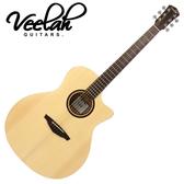 【敦煌樂器】VEELAH V1-GAC 面單板民謠木吉他 切角造型