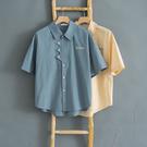 短袖襯衫男夏季很仙的高級設計感五分袖襯衣韓版潮流痞帥寬鬆上衣 台北日光