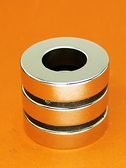 智鑚強力磁鐵圓形吸鐵石直徑40厚10帶孔20釹磁鐵 環形大磁鐵強磁ATF 美好生活