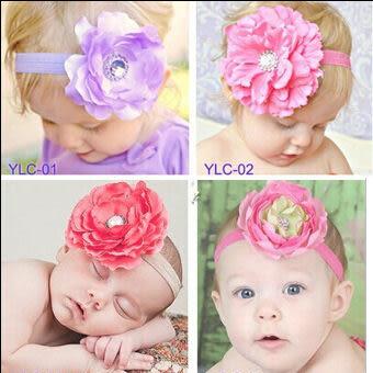 嬰兒髮飾 歐美款花朵髮帶 (花朵直徑約7~8CM) 甜美女娃兒必備  橘魔法Baby magic 現貨