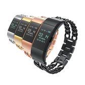 Fitbit charge 2 智慧手錶牛仔帶雙鏈錶帶 Fitbit charge 2手環錶帶 精鋼款錶帶腕帶