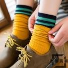 3雙 堆堆襪子女韓版學院風日系潮純棉中筒襪長筒襪【左岸男裝】