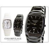 柒彩年代【NE309】酒桶型精密陶瓷腕錶 藍寶石鏡面手錶 范倫鐵諾Valentino~單支價格