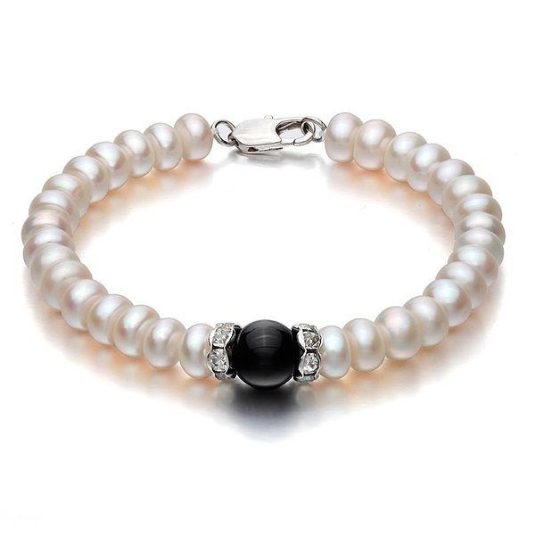 黑瑪瑙珍珠手鏈