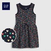 Gap女嬰幼童 柔軟妙趣印花無袖洋裝 461723-心形圖案
